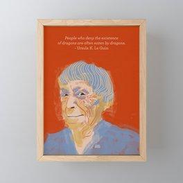 Ursula K. Le Guin portrait + quote Framed Mini Art Print