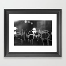 Paris Graphity Framed Art Print