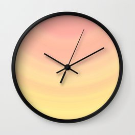 Pastel Millennial Pink Yellow Circle Ombre Gradient Pattern Wall Clock