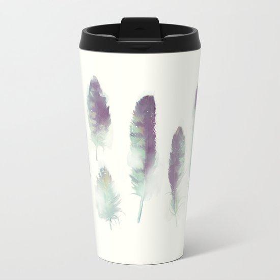 Feathers // Birds of Prey Metal Travel Mug