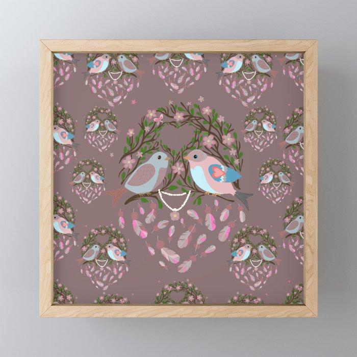 Love is in the air Spring Birds 05 Framed Mini Art Print