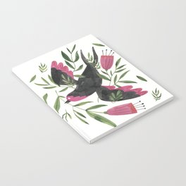Swallow with Flowers Notebook