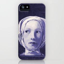 The Thief in Indigo iPhone Case