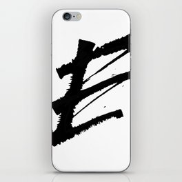 Letter E Ink Monogram iPhone Skin