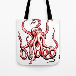 Gangster Octopus Tote Bag