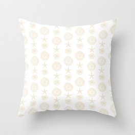 Beachy Seashell Pattern Throw Pillow