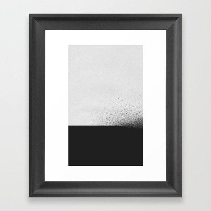 black 00 Framed Art Print