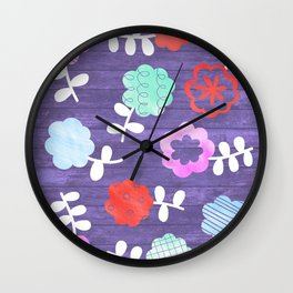 Daisy Dallop Wall Clock
