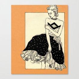 Vintage lady#2 Canvas Print