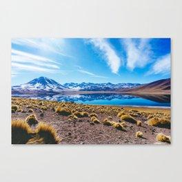 Laguna Miñiques, San Pedro de Atacama Desert, Chile Canvas Print