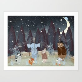 little falling stars Art Print