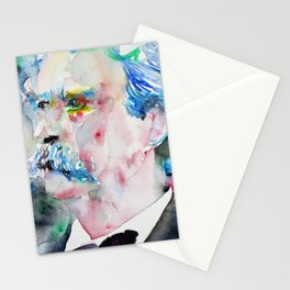 MARK TWAIN - watercolor portrait.2 Stationery Cards