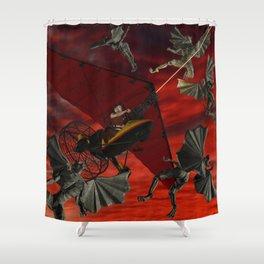 Ultralight Gargoyle Meyhem Shower Curtain