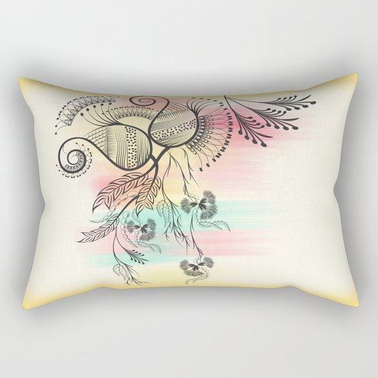 Decorative Floral Rectangular Pillow