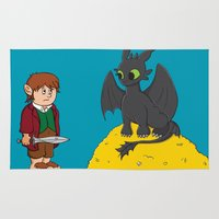 hobbit Area & Throw Rugs featuring How to Train Your Hobbit by Kory Hill