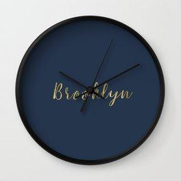 Brooklyn Gold Script Wall Clock