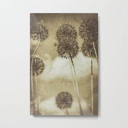 Allium Dance (Gold) Metal Print