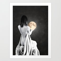 Moon Contemplation Art Print