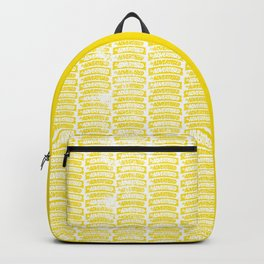 As Advertised - Yellow Backpack