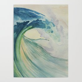Incoming Energy Wave Poster