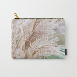Blurred natural texture dry reed. Carry-All Pouch