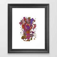 Litle city Framed Art Print