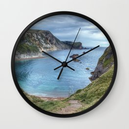 Man O War Bay, Dorset Wall Clock