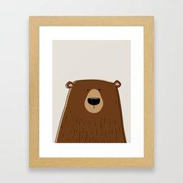 Silly Bear Framed Art Print