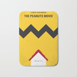 No624 My The peanuts minimal movie poster Bath Mat