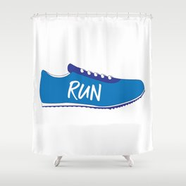 Running Shoes Shower Curtain