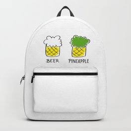 beer and pineapple Backpack