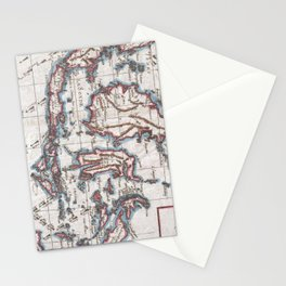 Vintage Map of Indonesia (1780) Stationery Cards