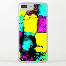 Electric Canvas B Clear iPhone Case
