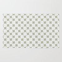 flower pattern Area & Throw Rugs featuring Flower pattern by Yasmina Baggili
