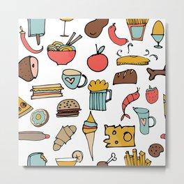 Food Frenzy white #homedecor Metal Print