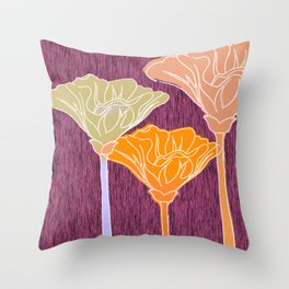 Looking Up with Orange Blush Throw Pillow