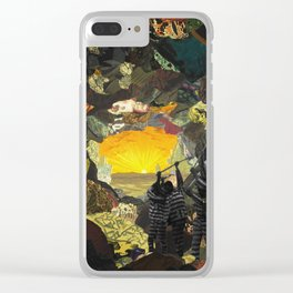 Subterranean Prison Passage Clear iPhone Case