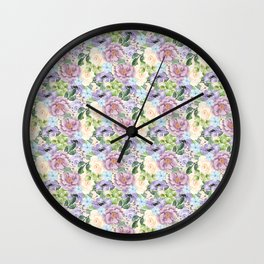 Roses & Forget Me Nots Wall Clock