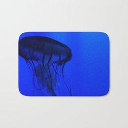 Jellyfish in the Deep Blue Bath Mat