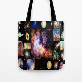 Space Galaxy Nebula Collage Tote Bag