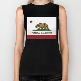 Pomona California Republic Flag  Biker Tank