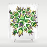 new orleans Shower Curtains featuring NEW ORLEANS by Dorienn Medrano