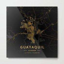 Guayaquil, Ecuador - Gold Metal Print