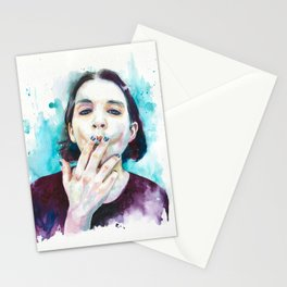 25th frame of my mind (Brian Molko) Stationery Cards