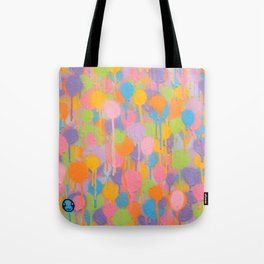Floating In A Festival Of Candy Colored Balloons Or Swimming In A Sea Of Psychedelic Jellyfish Tote Bag
