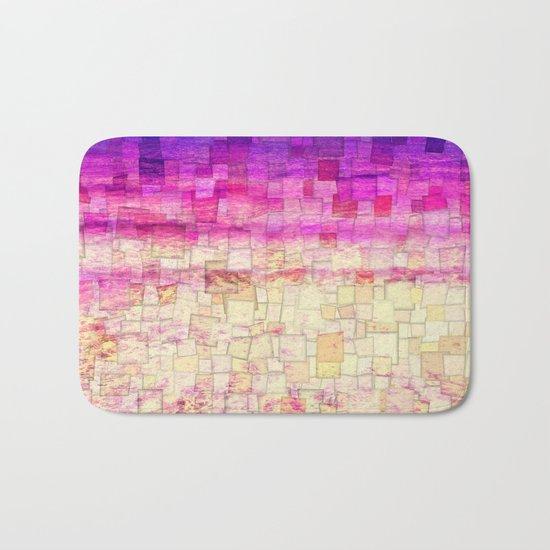 Pink Sea Mosaic Bath Mat