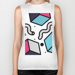 Memphis Pop-art Pattern II Biker Tank