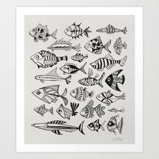Inked Fish Art Print