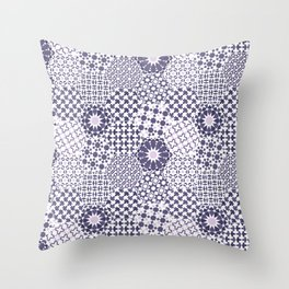 Spanish Tiles of the Alhambra - Violets Throw Pillow
