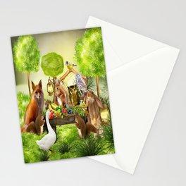 Sommerfest der Tiere Stationery Cards